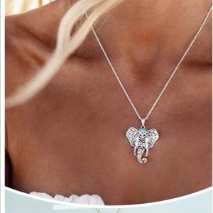 Jewelry - New Boho Silver and Turquoise Elephant necklace