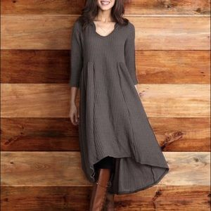 Dresses & Skirts - Hi-Lo ribbed sweater dress with hood.