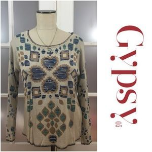 Gypsy 05 Sweaters - 🎉30% OFF BDLS🎉 Gypsy 05 heart printed sweater