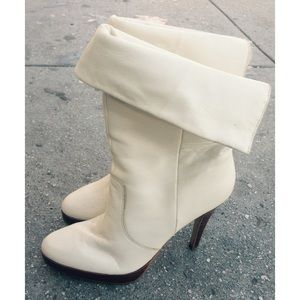 Bakers Shoes - Bakers leather white booties