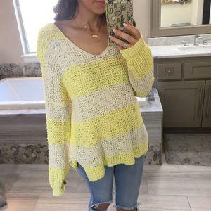 Blu Pepper Tops - Knit colorblock Sweater Like Wildfox
