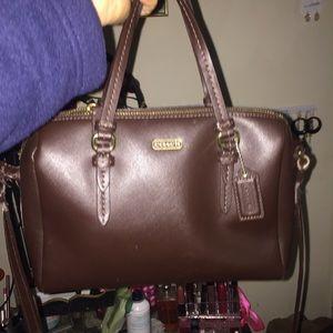Coach Handbags - Brown leather coach satchel🎀