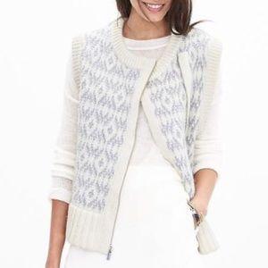Banana Republic Sweaters - Banana Republic NWT Jacquard Zip Sweater Vest