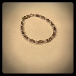 Never been worn silver and blue bracelet