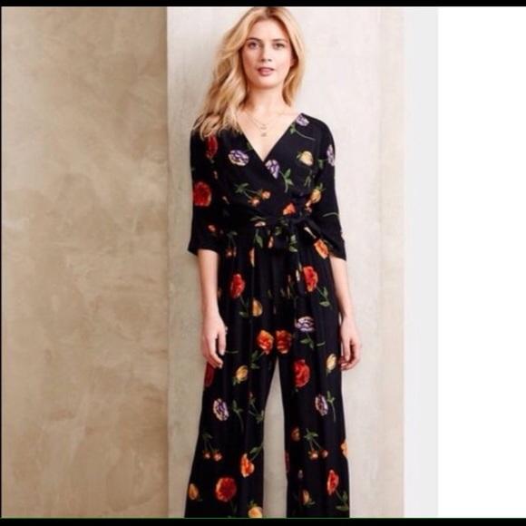 Dresses & Skirts - Floral wide leg Jumpsuit NWOT