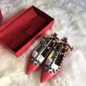 Valentino Shoes - $1195 new Authentic Valentino cage rockstud flats