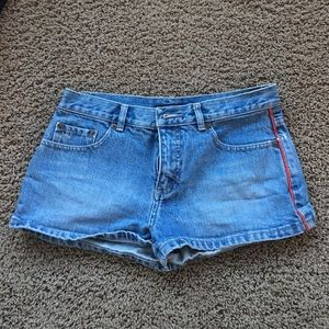 Marc Jacobs cute denim shorts with red piping