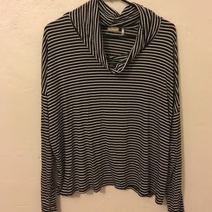 one clothing Sweaters - Striped turtle neck