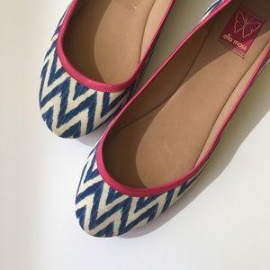 Anthropologie Shoes - Ella Moss chevron ballet flats