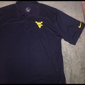 Nike Other - NWOT- Nike- West Virginia University Dri-Fit Polo
