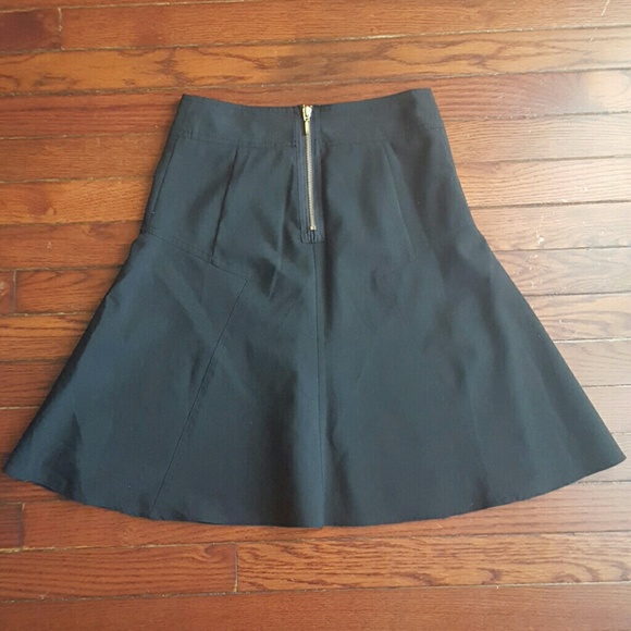 express vintage express a line circle skirt with gold