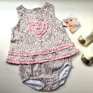 Vitamins Baby Other - Baby Pink Leopard Print Matching Set