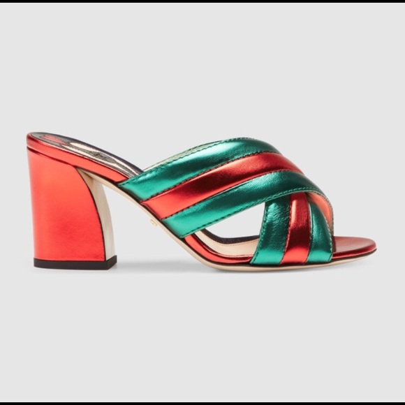 eb09ae5d1d80 Gucci Metallic Crossover Sandal 👡