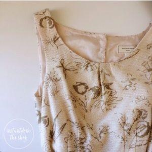ANTHROPOLOGIE windowpane sleeveless dress