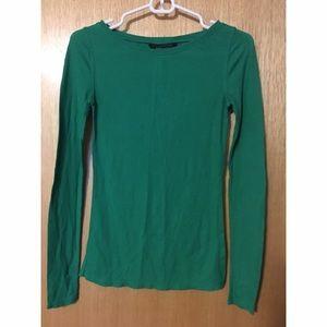 Green Long Sleeve BCBGMAXAZRIA Top