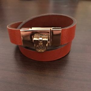 Jewelry - Leather wrap bracelet with gold latch