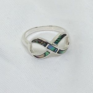 Jewelry - Sterling Silver Abalone Infinity Ring