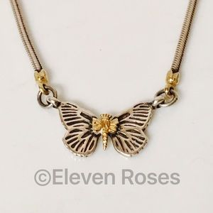 Lagos Caviar Other - Lagos Caviar Sterling 18k Gold Butterfly Necklace