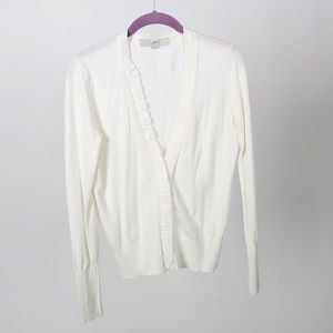 Ann Taylor LOFT Cream Color Cardigan Size S
