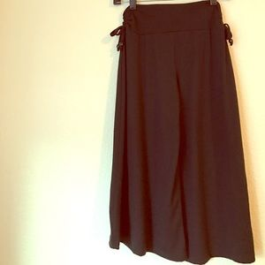 Amy Byer Other - Girls Culottes in Black Elastic Waistband w/ Ties