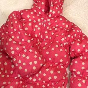 Gymboree Other - Gymboree pink polka dot puffer jacket