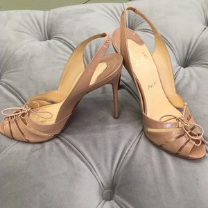 Nude Christian Louboutin strapped sandals
