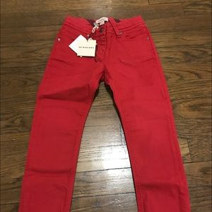 Burberry red jeans new with tag!