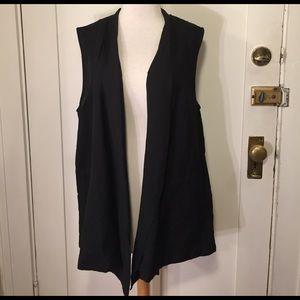 Who What Wear Jackets & Blazers - Who What Wear Black linen blend open vest