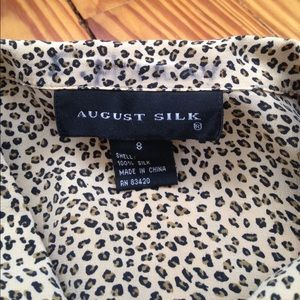 august silk Tops - August Silk Micro Leopard button down size 8