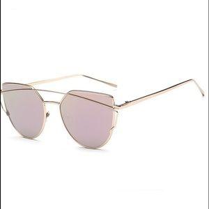 Quay Australia Accessories - Polarized Pink and Gold Cat Sunglasses