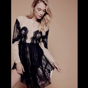 Free People Special Edition black nude Mix Lace 6