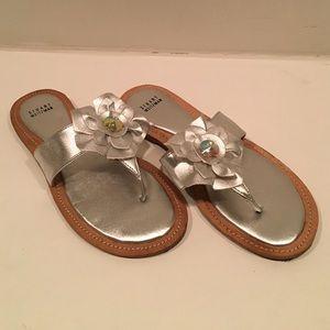 Stuart Weizmann silver sandals