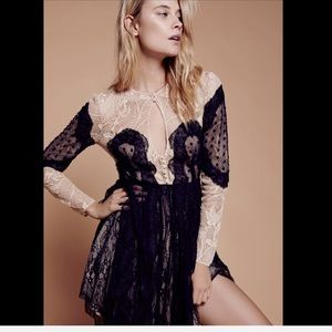 Free People Special Edition black nude Mix Lace 8