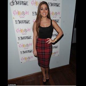 Celebrity Choice Plaid tube skirt