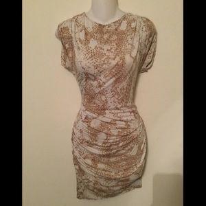 Rachel Roy Dresses & Skirts - Rachel Roy white and tan snakeskin dress
