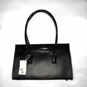 Cleo & Patek black leather purse