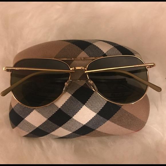 fc6fdc5b79e4 Burberry Accessories - Gold Burberry Folding Aviator Sunglasses