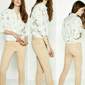 Zara Nude Skinny Jeans