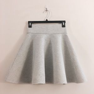 NWOT heathered grey thick scuba skater skirt