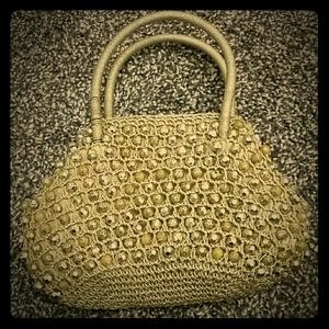 Vintage Italian gold beaded handbag