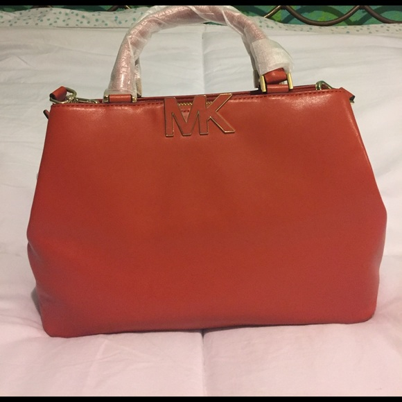 021605454c99ed Michael Kors Bags | Nwt Burnt Orange Satchel With Gold | Poshmark