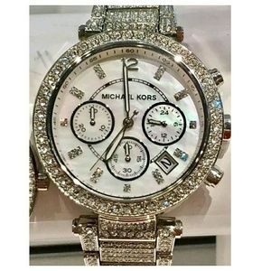 Michael Kors  Accessories - NWT Michael Kors Swarovski Crystal Stainless watch