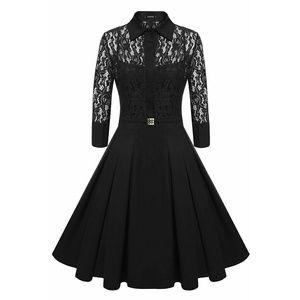 Acevog Dresses & Skirts - 🎉HP🎉 Vintage Style Black Lace A-Line Dress