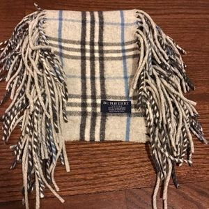Burberry Accessories - Burberry Cashmere Fringe Scarf