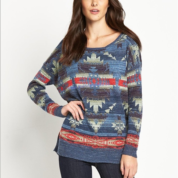 Denim /& Supply Ralph Lauren Blue Sweatshirt Graphic NWT