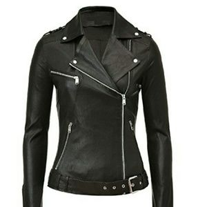 Jackets & Blazers - Punk rock Lambskin Leather Jacket