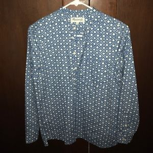 Madewell Button-Up Long-Sleeve Blouse XS