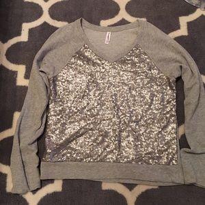 Sequin front sweatshirt
