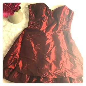 Laundry by Design Dresses & Skirts - Laundry by Design Strapless Burgundy Dress