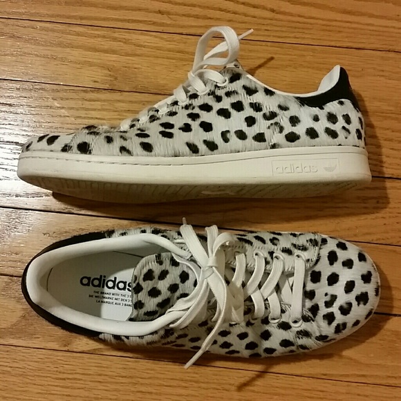3df840cc4a87b9 Adidas Shoes - Adidas Stan Smith cheetah print pony trainers
